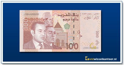 Marokko-100-Dirhams-Mohammed-VI,-Hassen-II-and-Mohammed-V-2002