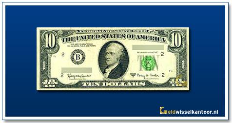 geldwisselkantoor-10-dollar-Alexander-Hamilton-1963-1995-amerika