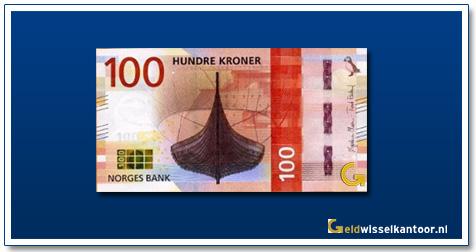Noorwegen-100-Kronen-The-Gokstad-ship-from-800's-2018