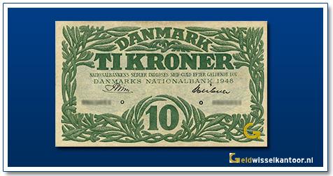 Denemarken 10 Kroner 1947-1953