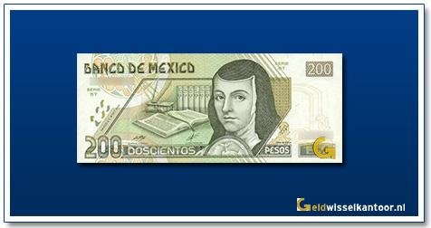 Mexico 200 Pesos J de Asbaje 1995-2000
