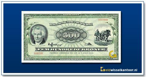Denemarken 500 Kroner 1963-1974
