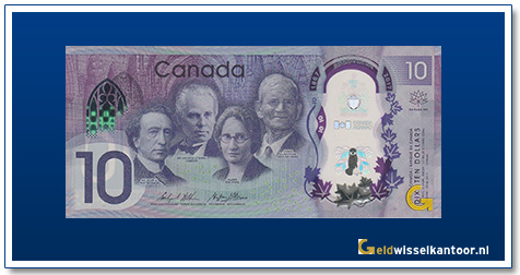 Canada 10 Dollar 2017 Sir John A. Macdonald-Sir George-Etienne Carter, Agnes Macphall, James Gladstone