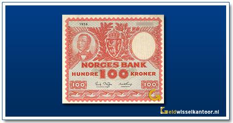 Noorwegen 100 Kronen Henrik Wergeland 1949-1962
