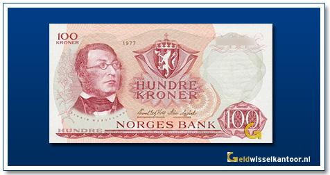 Noorwegen 100 Kronen Henrik Wergeland 1962-1977