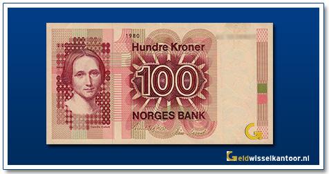 Noorwegen 100 Kronen Camilla-Collett 1979-1997