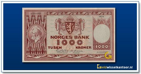 Noorwegen 1000 Kronen Henrik Ibsen 1949-1975