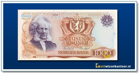 Noorwegen 1000 Kronen Henrik Ibsen 1975-1987