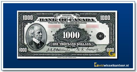 Canada 1000 Dollar Sir Wilfrid Laurier 1935