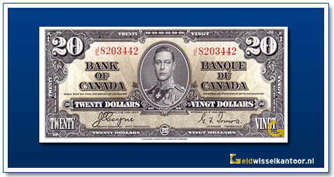 Canada 20 Dollar King George VI 1937