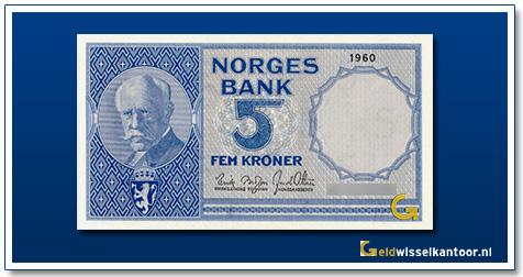 Noorwegen 5 Kronen Fridtjof Nansen 1955-1963