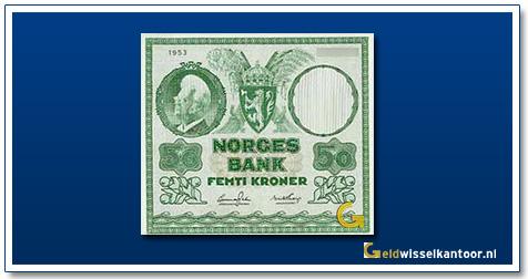 Noorwegen 50 Kronen Bjørnstjerne Bjørnson 1950-1965
