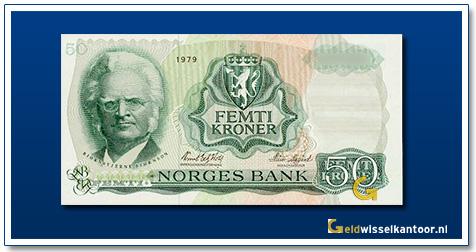 Noorwegen 50 Kronen Bjørnstjerne Bjørnson 1966-1983