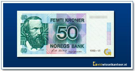 Noorwegen 50 Kronen Aasmund Olavsson Vinje 1985-1997