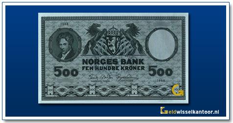Noorwegen 500 Kronen Niels-Henrik-Abel 1948-1976