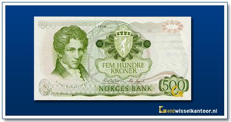 Noorwegen 500 Kronen Niels-Henrik-Abel 1978-1985