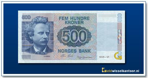 Noorwegen 500 Kronen Edvard-Grieg 1991-2000