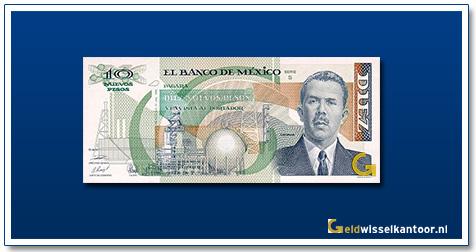 Mexico 10 Pesos General Lazaro Cardenas 1992