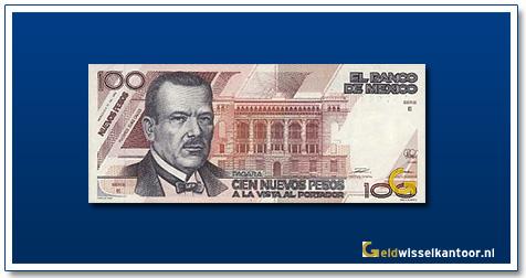Mexico 100 Pesos P.E. Calles 1992