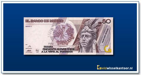 Mexico 50 Pesos Cuauthemoc 1992
