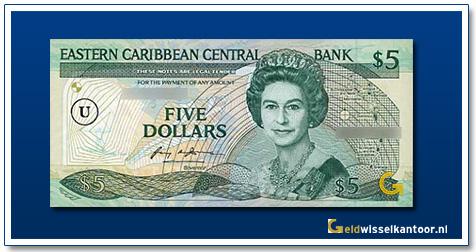 5 Dollar Queen Elizabeth II 1986-1988