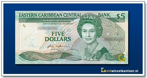 5 Dollar Queen Elizabeth II 1988-1993