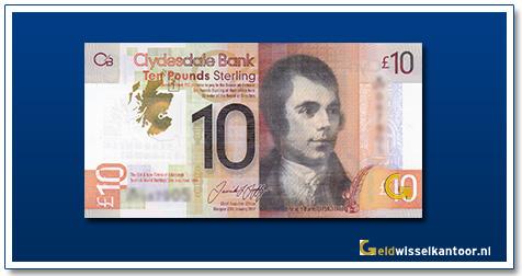 Schotland 10 Pounds Robert Burns 2017