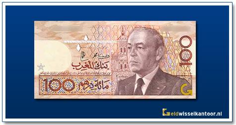 Marokko-100-Dirhams-King-Hassan-II-1987
