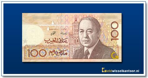 Marokko-100-Dirhams-King-Hassan-II-1987-1991