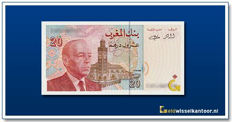 Marokko-20-Dirhams-King-Hassan-II-1996