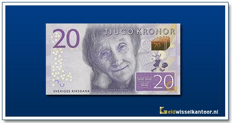 Zweden 20 Kronor Astrid Lindgren 2015