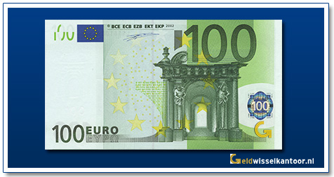 Europa 100 euro Bridge in Baroque and Rococo style 2002