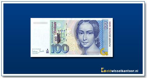 Duitsland 100 Mark Clare Schumann 1996