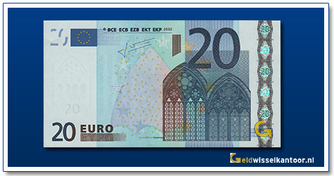 Europa 20 euro Bridge in Gothic style 2002