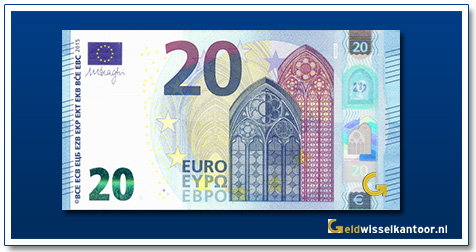 Europa 20 euro Bridge in Gothic style 2015