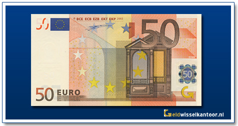 Europa 50 euro Bridge in Renaissance style 2002
