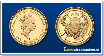 Engeland 2 Pounds Queen Elizabeth II 1986-1996