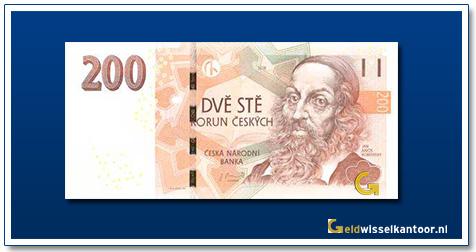 Tsjechië 200 Kronen Jan Amos Komensky 2018