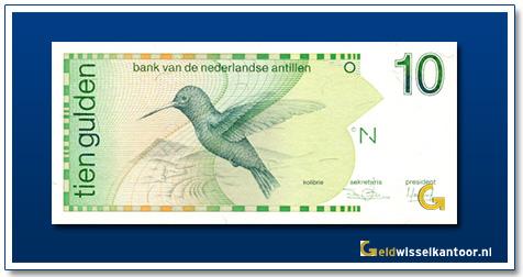 Nederlandse Antillen 10 Gulden Kolibrie 1986-1994