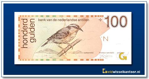 Nederlandse Antillen 100 Gulden Suikerdiefje 1986-1994