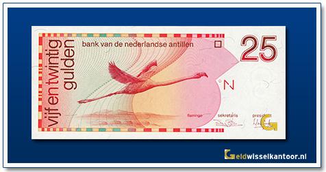 Nederlandse Antillen 25 Gulden Flamingo 1986-1994