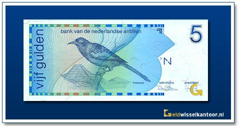 Nederlandse Antillen 5 Gulden Troepiaal 1986-1994