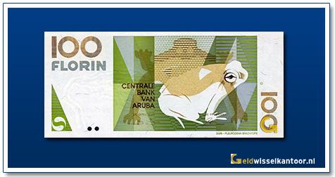 Aruba 100 Florin Calco Dori Kikker 1990