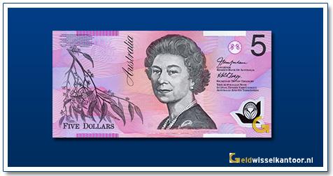 Australië 5 Dollar Queen Elizabeth II 2003-2015
