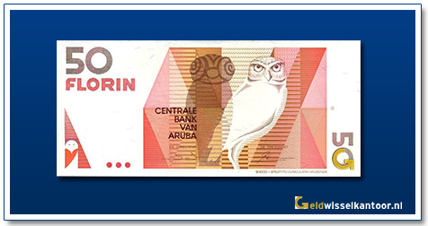 Aruba 50 Florin Shoco Uil 1990