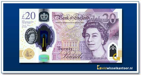 Groot-Brittannië-20 Pounds-Queen-Elizabeth-II